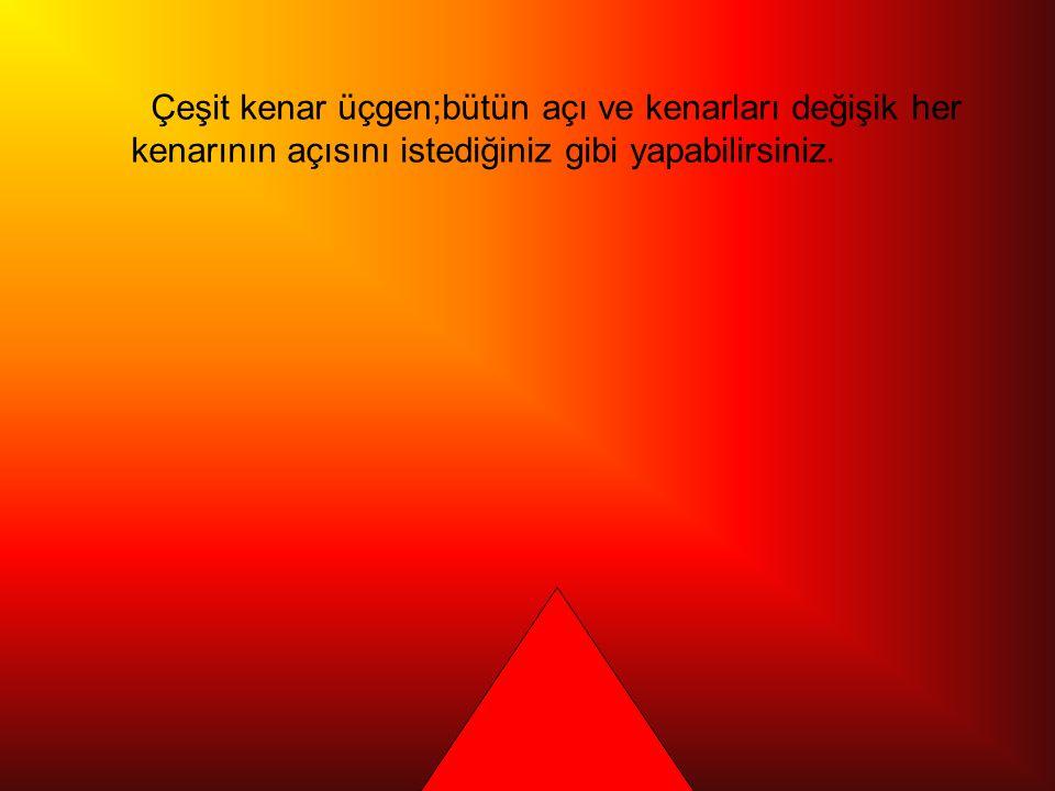 Eşkenar üçgen; üç açısı da eşit olan ve kenar uzunlukları eşit olan Üçgene eşkenar üçgen denir.