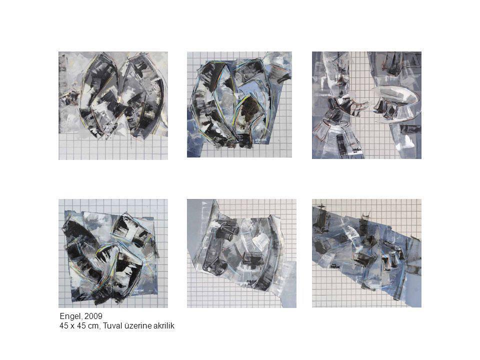 Engel, 2009 45 x 45 cm, Tuval üzerine akrilik