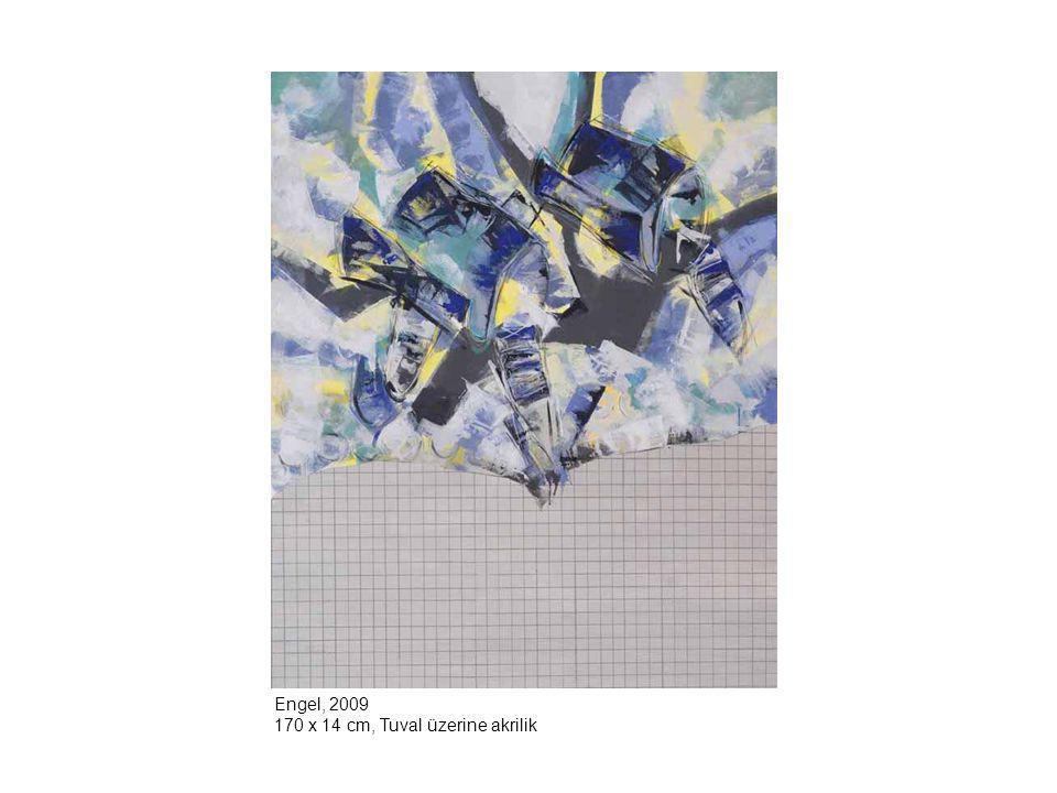 Engel, 2009 170 x 14 cm, Tuval üzerine akrilik