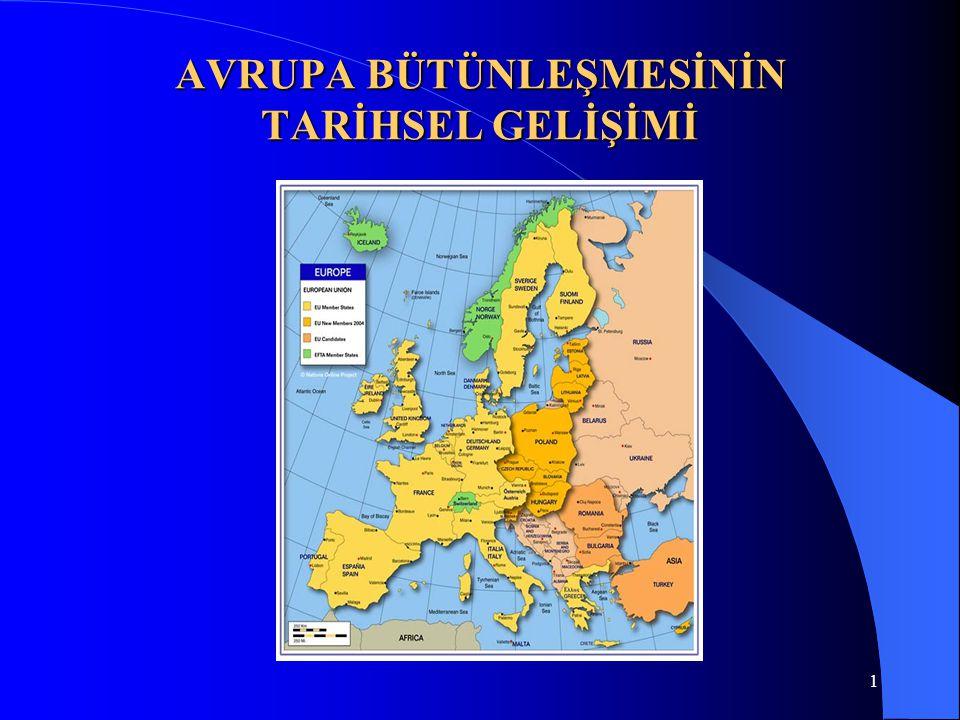 2 TARİH BOYUNCA AVRUPA BÜTÜNLEŞMESİ FİKRİ Avrupa sözcüğünü İlk kez MÖ 7.