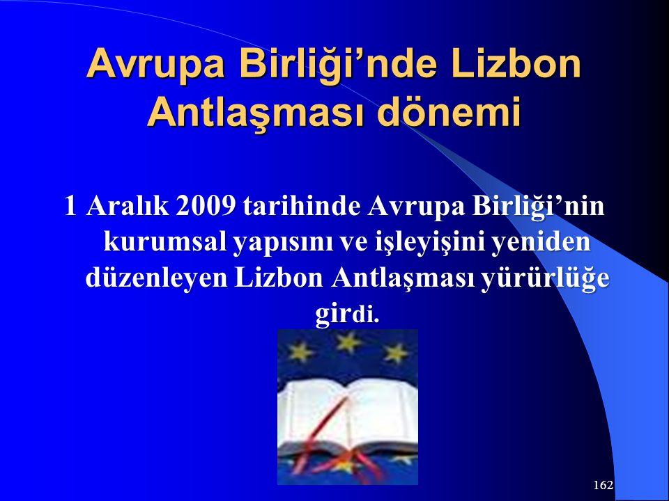 Avrupa Birliği'nde Lizbon Antlaşması dönemi 1 Aralık 2009 tarihinde Avrupa Birliği'nin kurumsal yapısını ve işleyişini yeniden düzenleyen Lizbon Antla