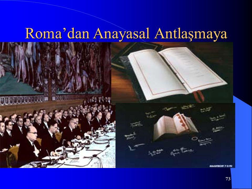 73 Roma'dan Anayasal Antlaşmaya