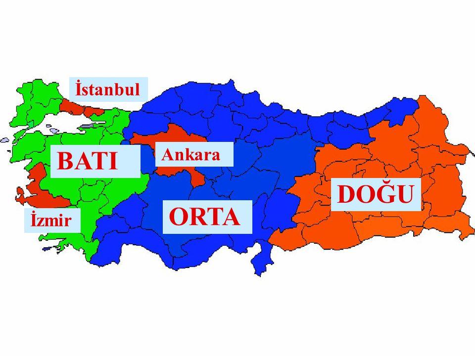 DOĞU ORTA BATI Ankara İzmir İstanbul