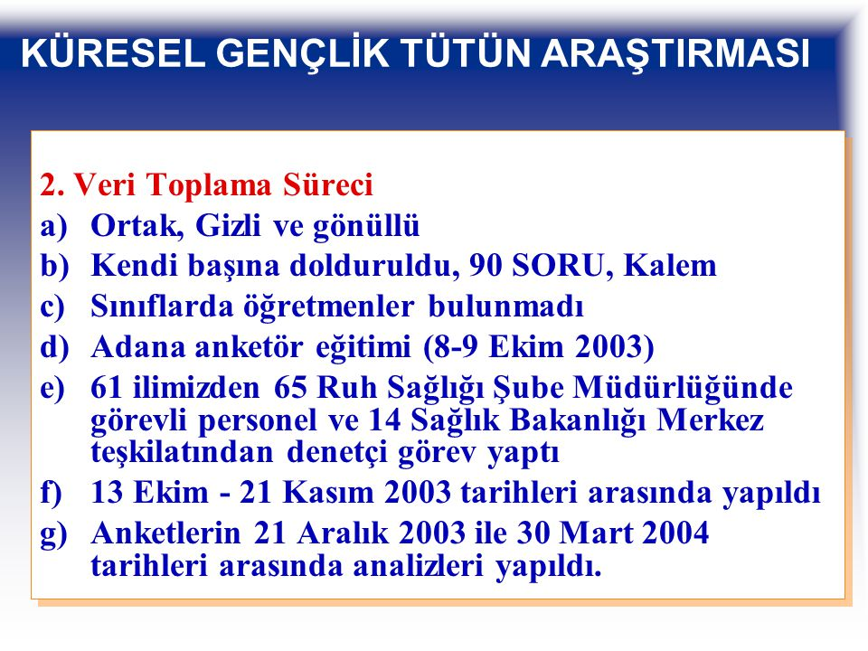 SİGARA İÇEN ÖĞRENCİLERİN BÖLGELERE GÖRE ORANLARI, TÜRKİYE, KGTA, 2003