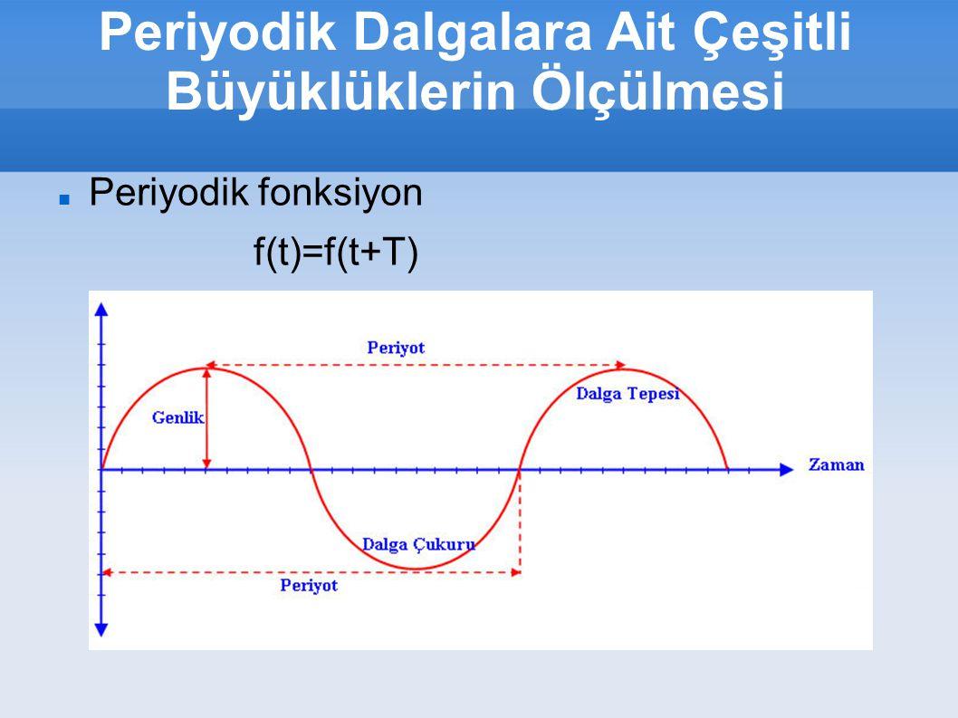 Periyodik Dalgalara Ait Çeşitli Büyüklüklerin Ölçülmesi Periyodik fonksiyon f(t)=f(t+T)