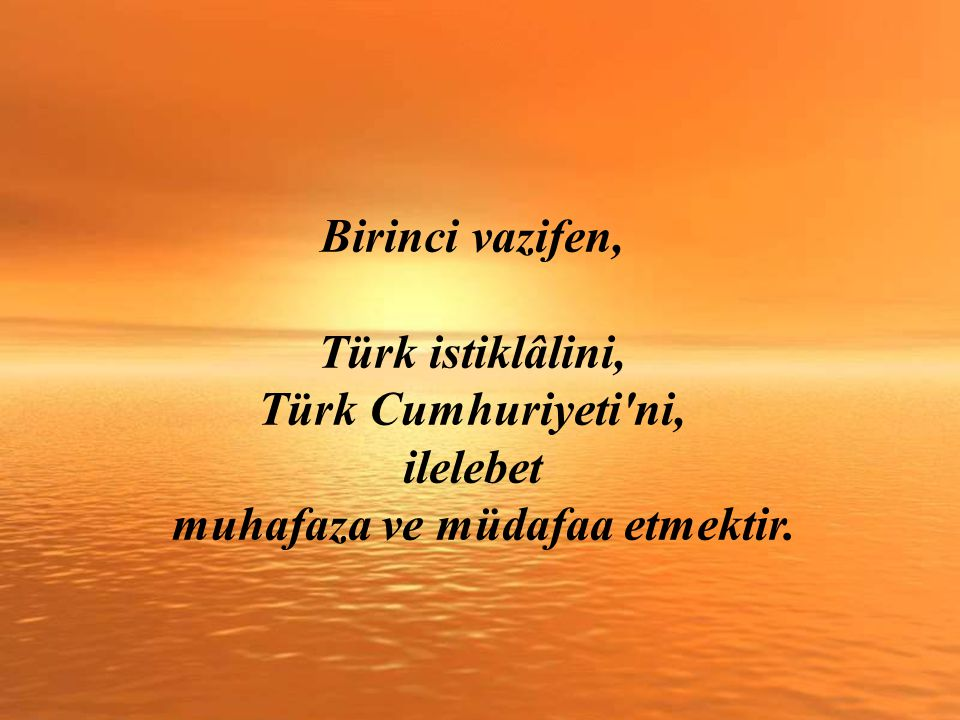 Bu cümledeki ÖNEMLİ detay ise şu: Gazi Mustafa Kemal ATATÜRK, dış düşmanlara karşı en zor şartlarda kazanılan savaşlardan sonra dahi, gelecekte öncelikle DÂHİLİ BEDHAHLARIMIZ olacağını vurguluyor.