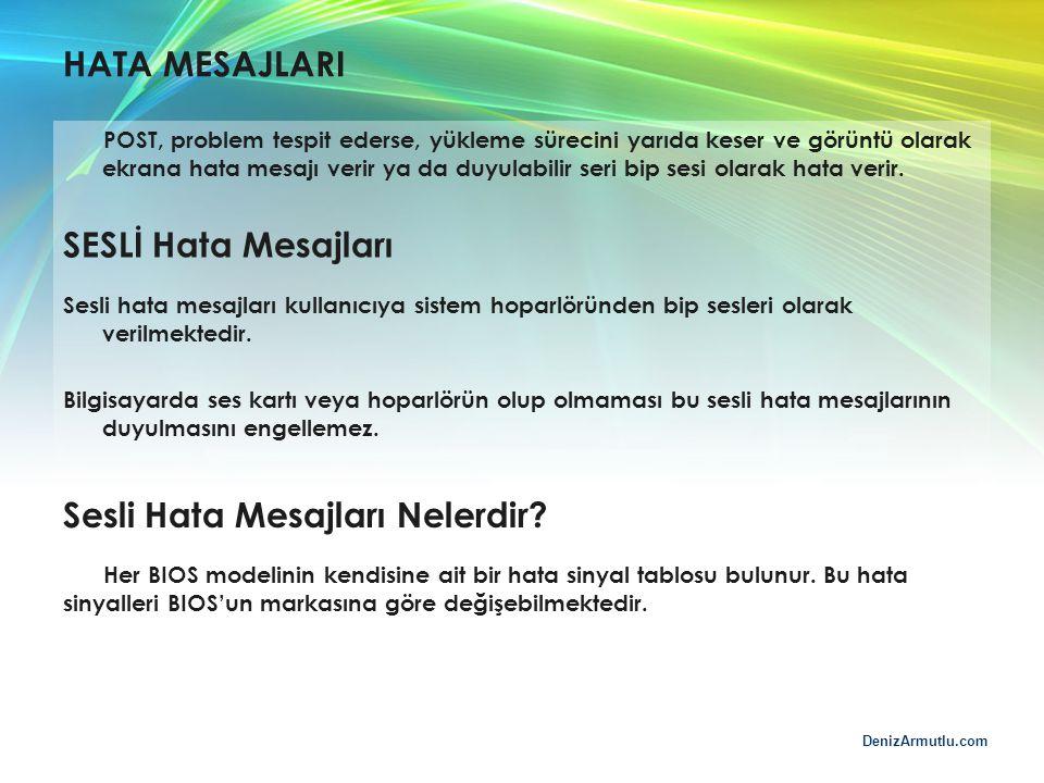 DenizArmutlu.com HATA MESAJLARI POST, problem tespit ederse, yükleme sürecini yarıda keser ve görüntü olarak ekrana hata mesajı verir ya da duyulabili