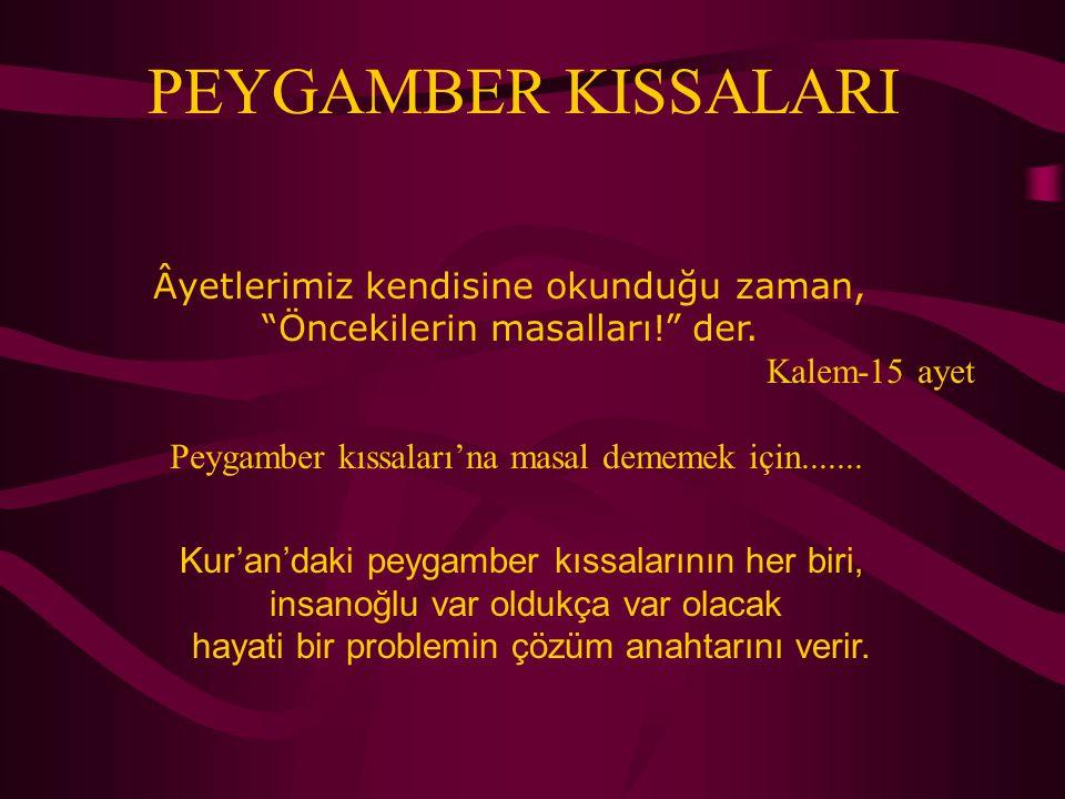 Eyyub peygamber, sabrın Kur'an'daki timsalidir.