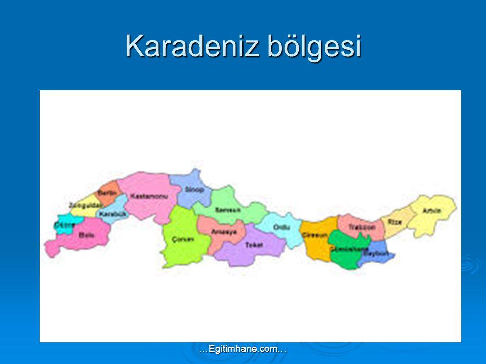 Karadeniz bölgesi …Egitimhane.com…