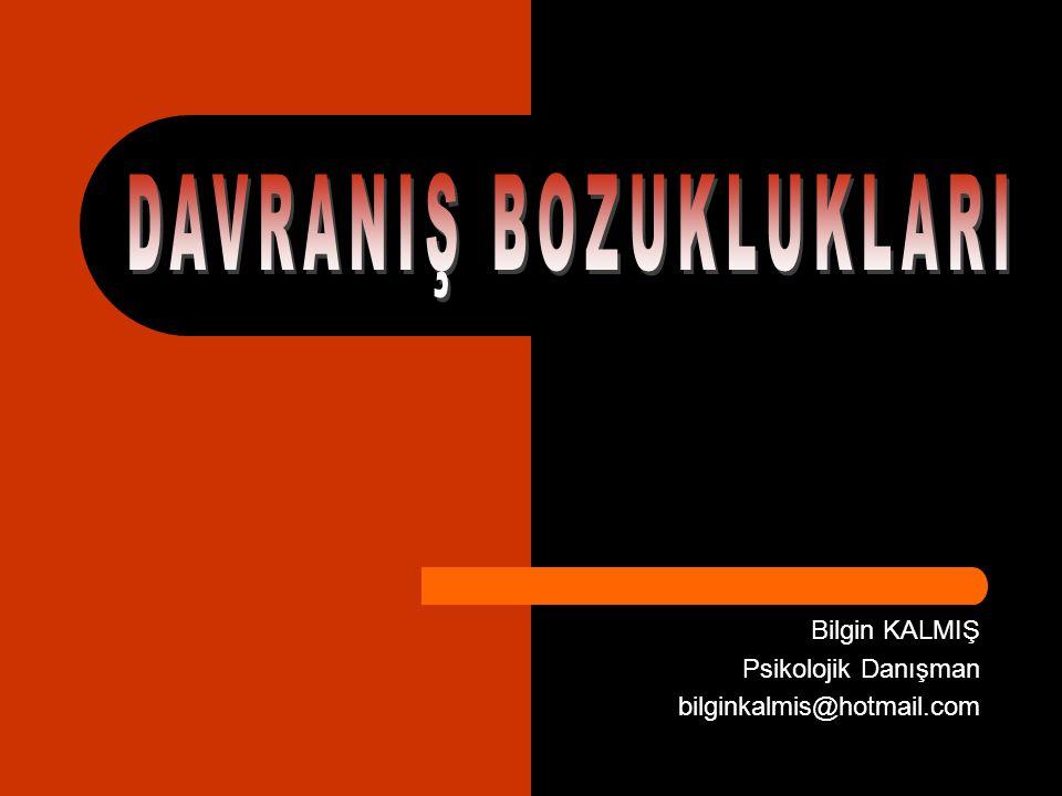 Bilgin KALMIŞ Psikolojik Danışman bilginkalmis@hotmail.com