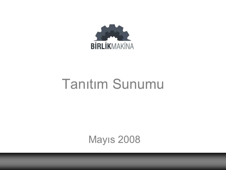 Tanıtım Sunumu Mayıs 2008