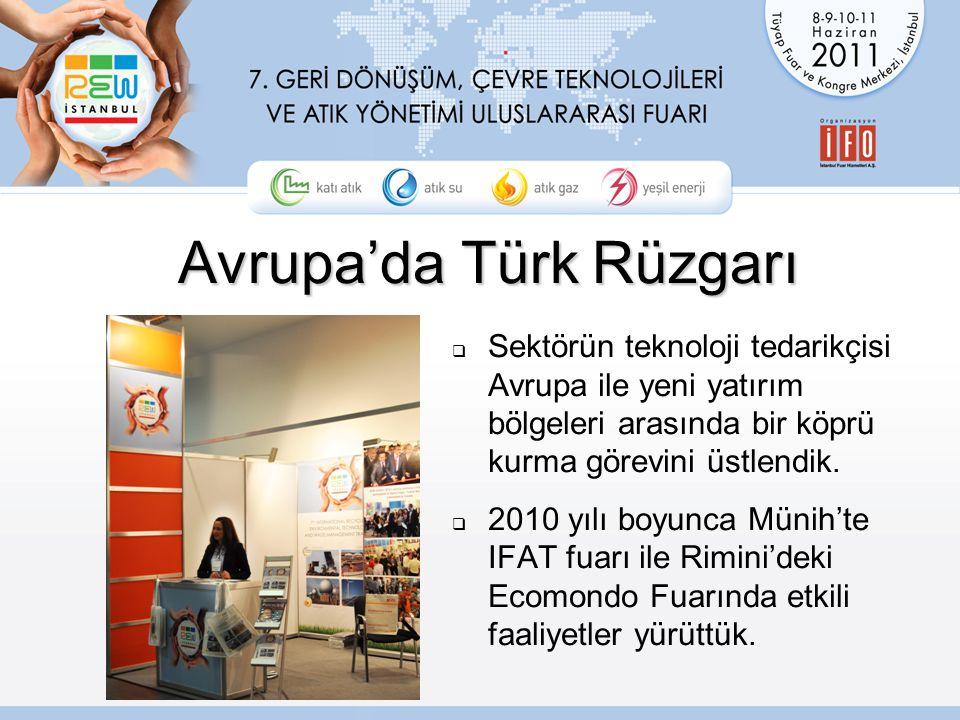 Avrupa'da Türk Rüzgarı  Sektörün teknoloji tedarikçisi Avrupa ile yeni yatırım bölgeleri arasında bir köprü kurma görevini üstlendik.