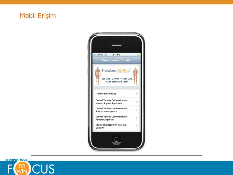 © Elsevier 2009Confidential & Proprietary Mobil Erişim