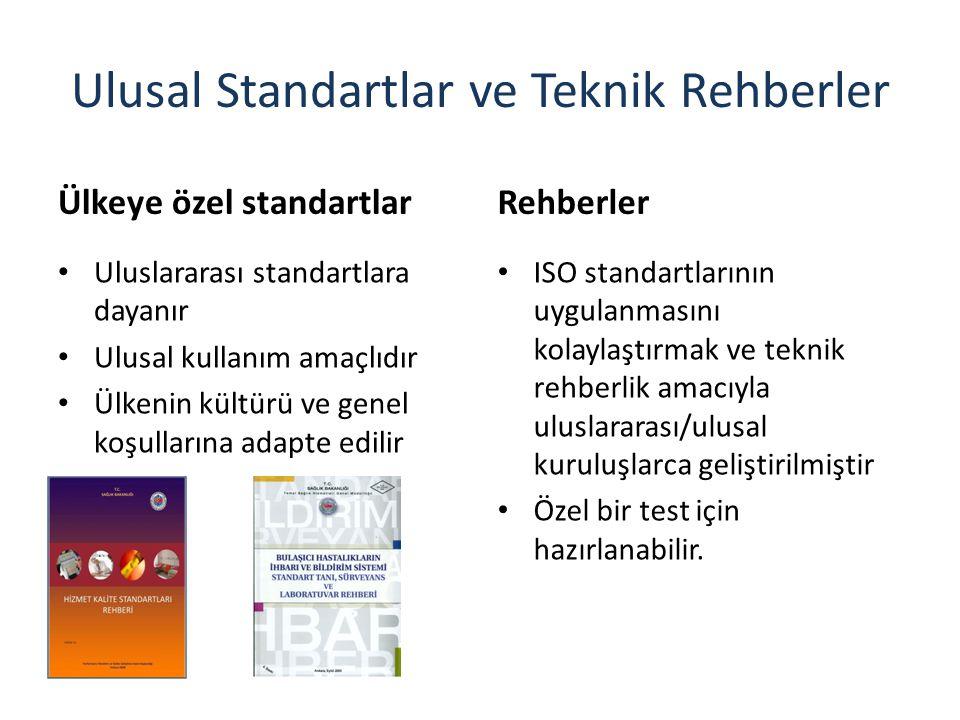 Ulusal Standartlar ve Teknik Rehberler Ülkeye özel standartlar Uluslararası standartlara dayanır Ulusal kullanım amaçlıdır Ülkenin kültürü ve genel ko