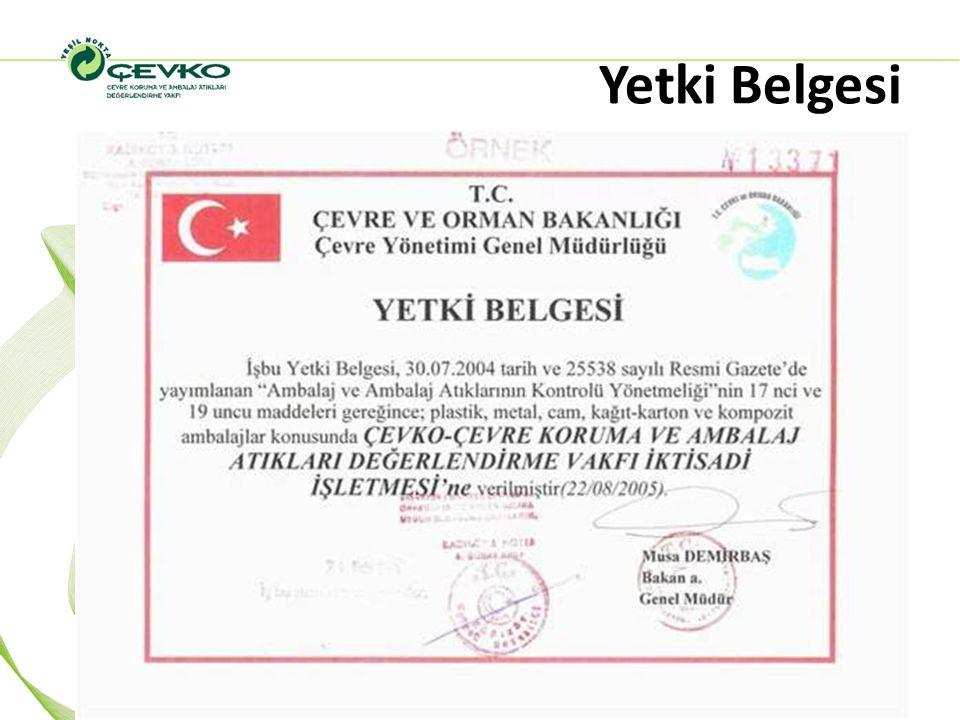 Yetkilendirilmiş Kuruluş ÇEVKO (2009) Bugün, Yetkilendirilmiş Kuruluş ÇEVKO sistemine dahil piyasaya süren firma sayısı 995 olmuştur.