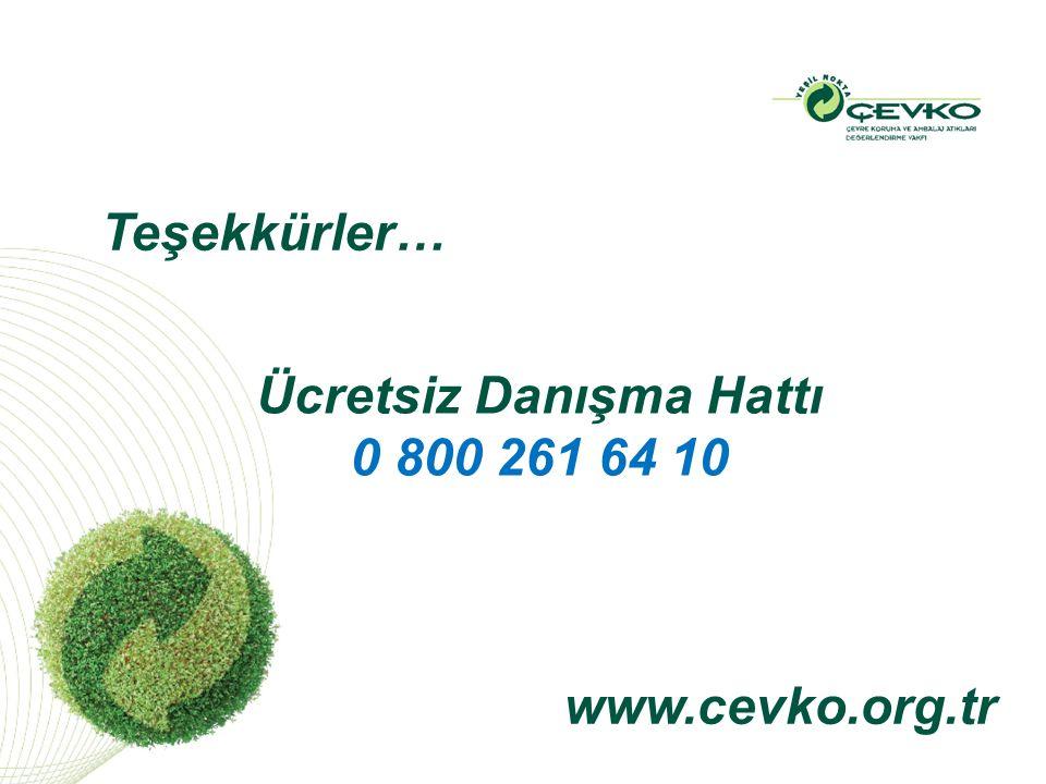 Teşekkürler… www.cevko.org.tr Ücretsiz Danışma Hattı 0 800 261 64 10