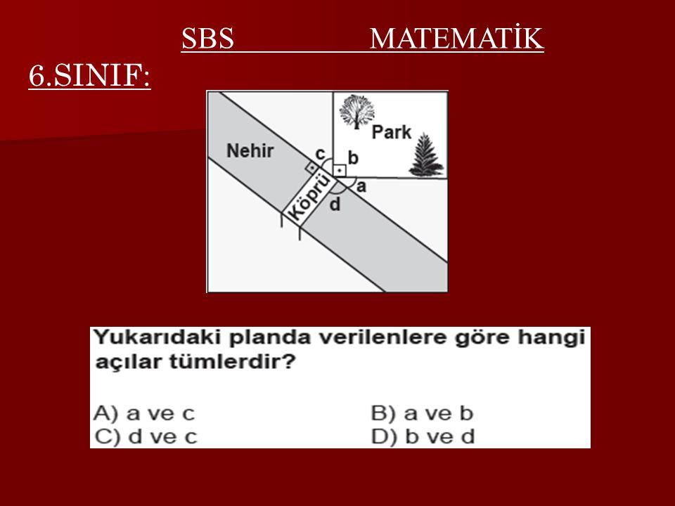 6.SINIF: SBS MATEMATİK