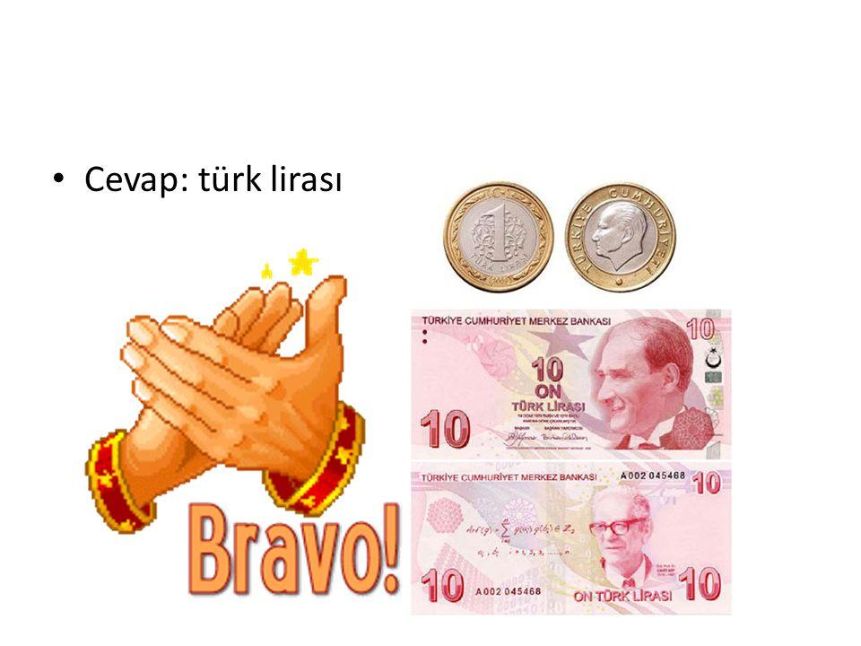 Cevap: türk lirası