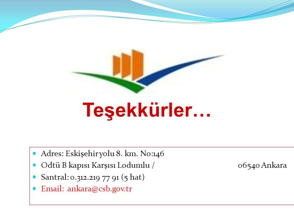Adres: Eskişehir yolu 8. km. No:146 Odtü B kapısı Karşısı Lodumlu /06540 Ankara Santral: 0.312.219 77 91 (5 hat) Email: ankara@csb.gov.tr Teşekkürler…