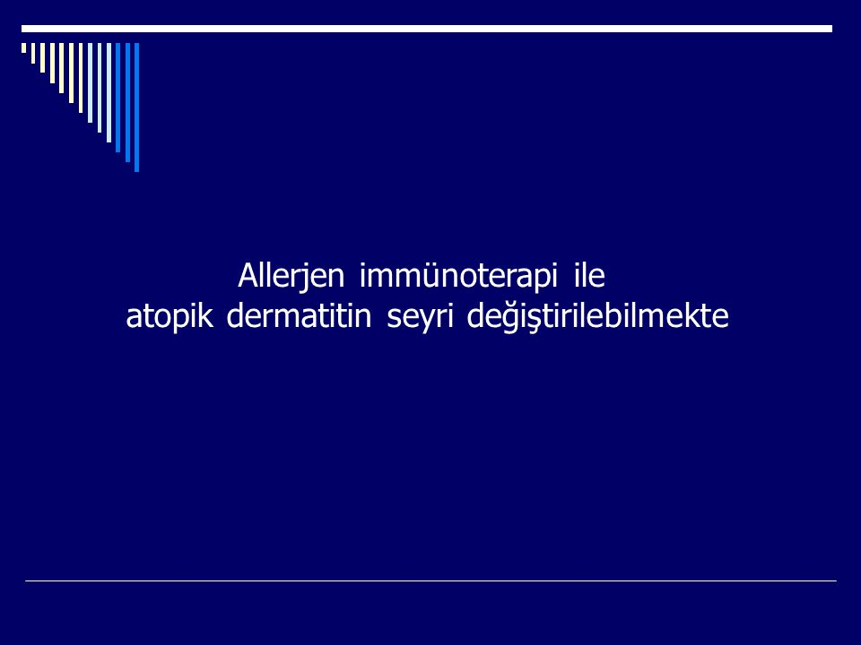 Allerjen immünoterapi ile atopik dermatitin seyri değiştirilebilmekte