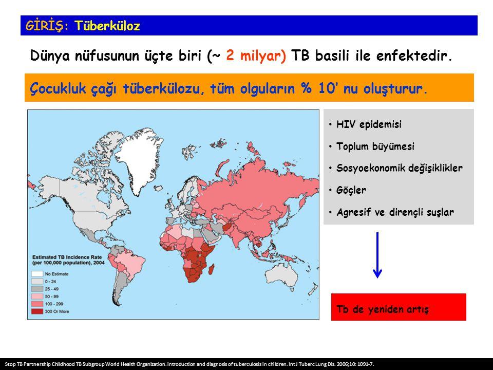 HIV epidemisi Toplum büyümesi Sosyoekonomik değişiklikler Göçler Agresif ve dirençli suşlar Çocukluk çağı tüberkülozu, tüm olguların % 10' nu oluşturu