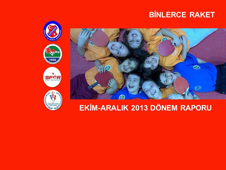 BİNLERCE RAKET EKİM-ARALIK 2013 DÖNEM RAPORU