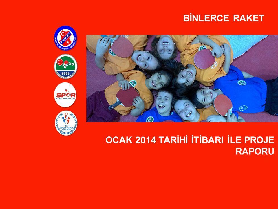BİNLERCE RAKET OCAK 2014 TARİHİ İTİBARI İLE PROJE RAPORU