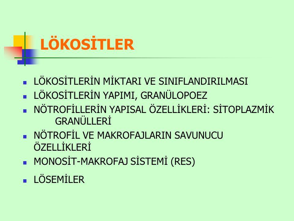 Lökosit formülü Hastalıkların tanısında lökosit formülü önemli ipuçları verir.