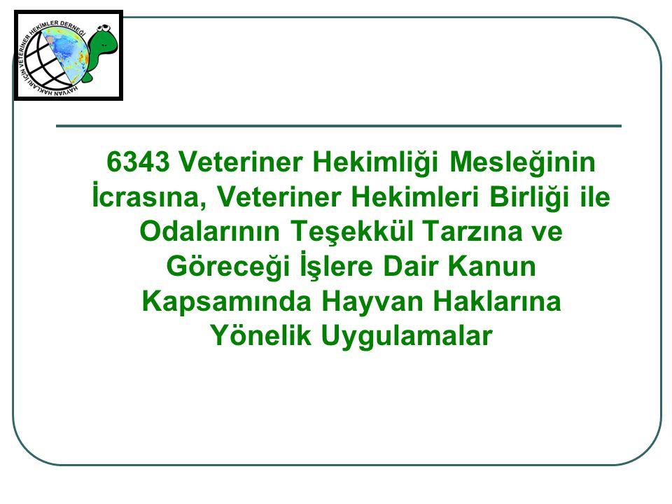 6343 Veteriner Hekimliği Mesleğinin İcrasına, Veteriner Hekimleri Birliği ile Odalarının Teşekkül Tarzına ve Göreceği İşlere Dair Kanun Kapsamında Hay