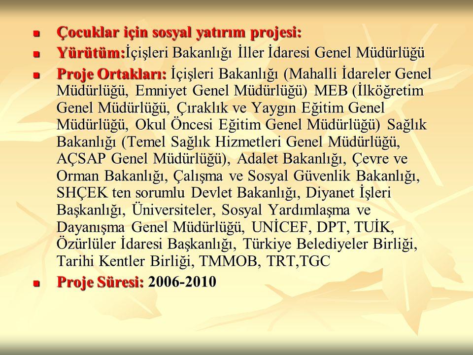 ÇDŞ Projesiyle ilgili şu ana kadar yapılan faaliyetler Bu projenin hazırlık çalışmaları için baştan beri UNİCEF Türkiye Temsilciliği ile ortaklaşa çalışmalar, yaklaşık bir yıldır devam etmektedir.