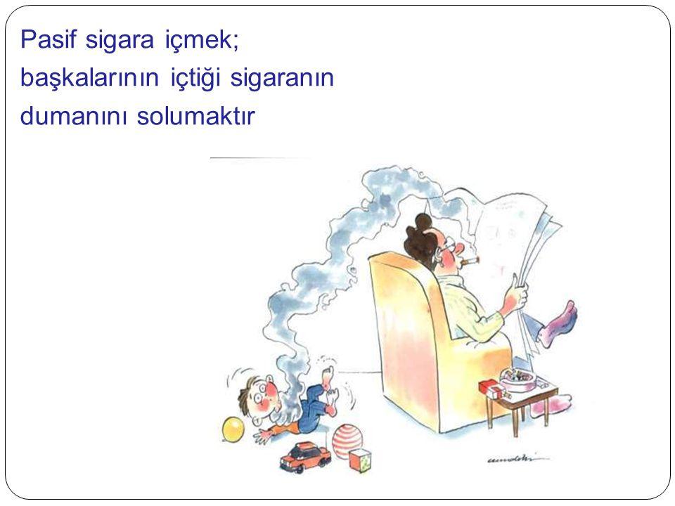 Pasif sigara içmek; başkalarının içtiği sigaranın dumanını solumaktır