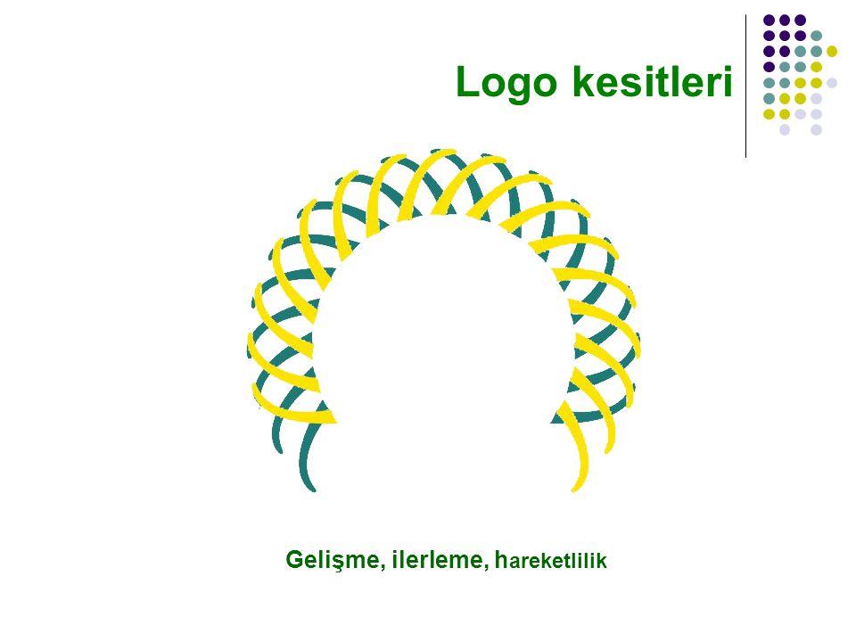 Gelişme, ilerleme, h areketlilik Logo kesitleri