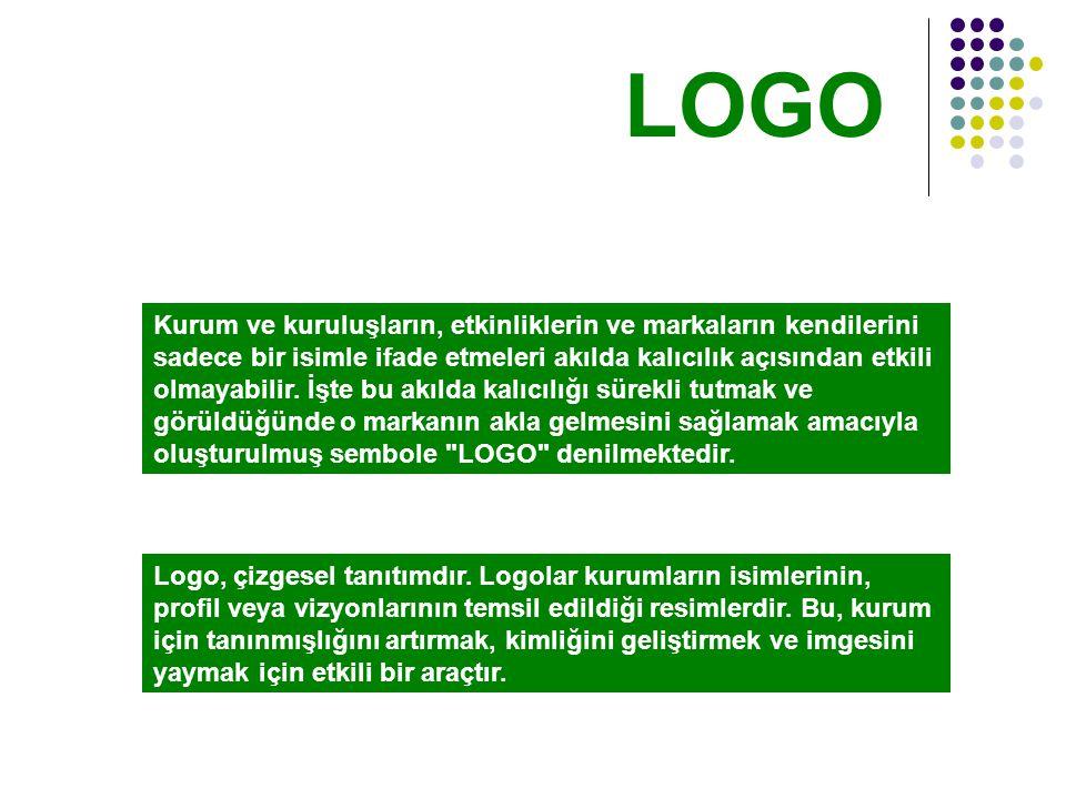 Logo, çizgesel tanıtımdır.