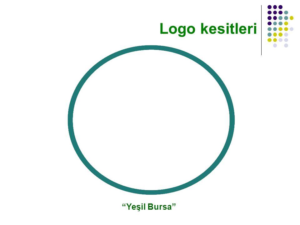 Yeşil Bursa Logo kesitleri