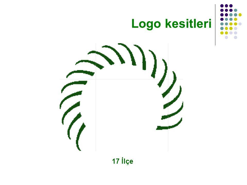 17 İlçe Logo kesitleri