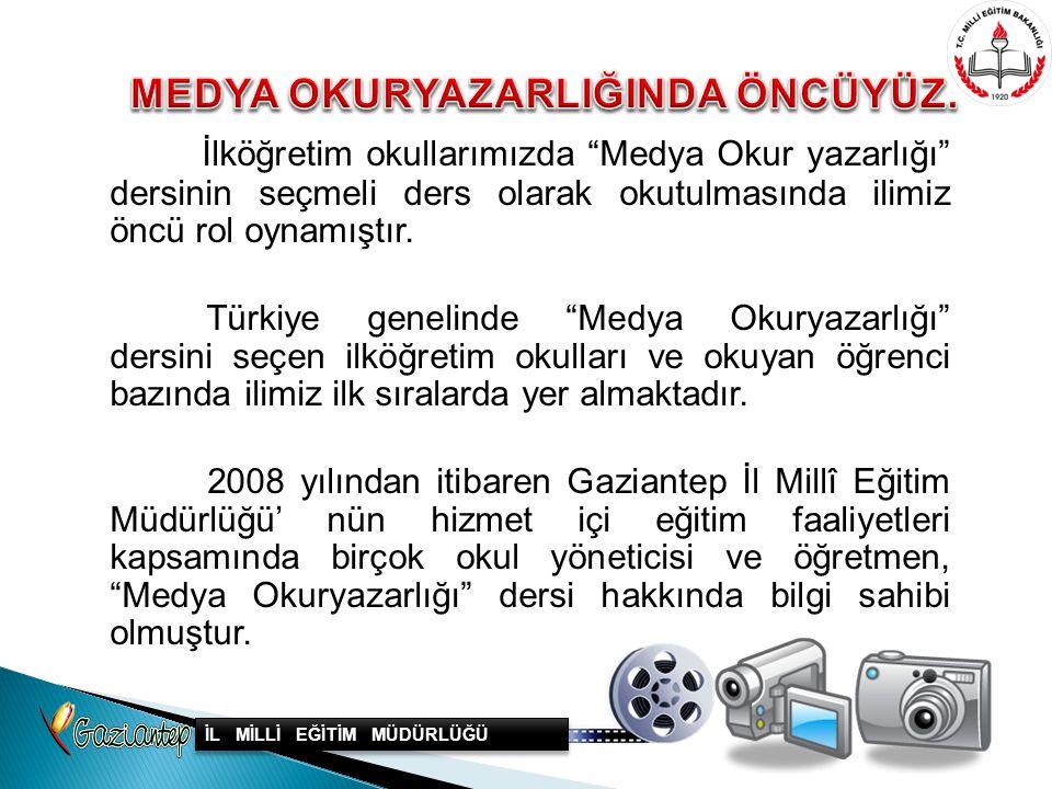 """İlköğretim okullarımızda """"Medya Okur yazarlığı"""" dersinin seçmeli ders olarak okutulmasında ilimiz öncü rol oynamıştır. Türkiye genelinde """"Medya Okurya"""