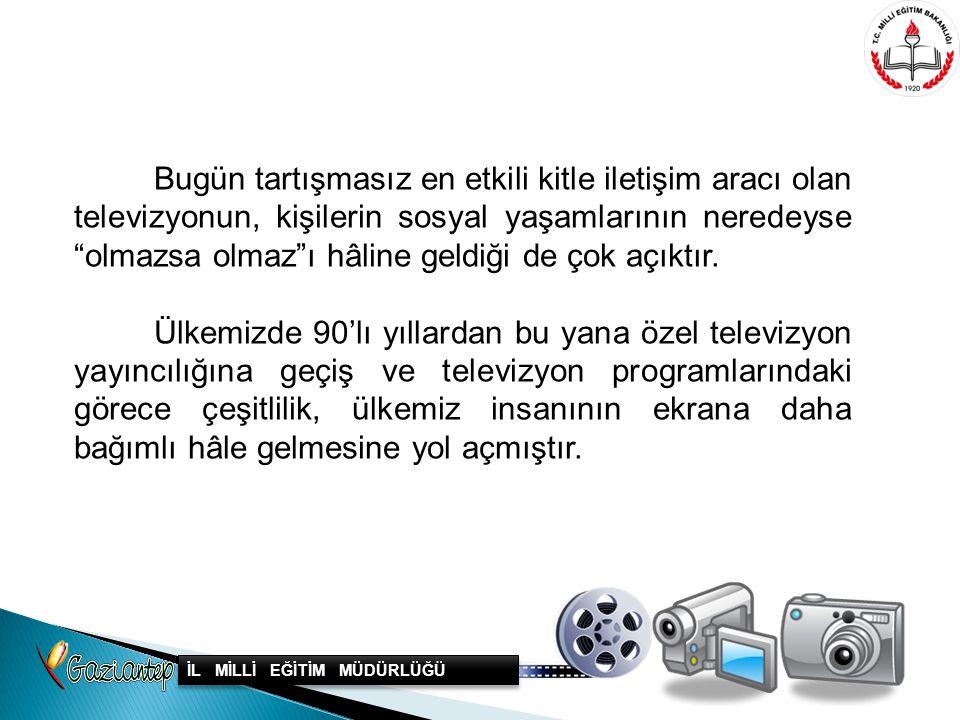 Yapılan bilimsel araştırmalarda, Türkiye'deki televizyon izlenme oranının günde ortalama 4–5 saat olduğu görülmektedir.