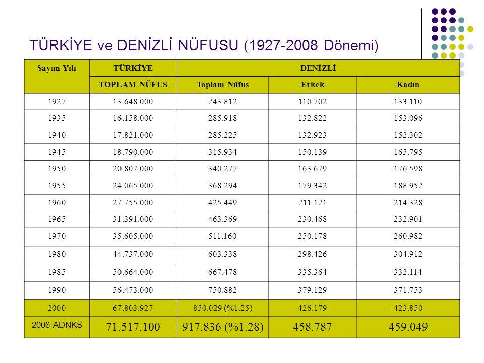 DENİZLİ İTHALAT-İHRACAT KARŞILAMA ORANLARI 2007 Değ.