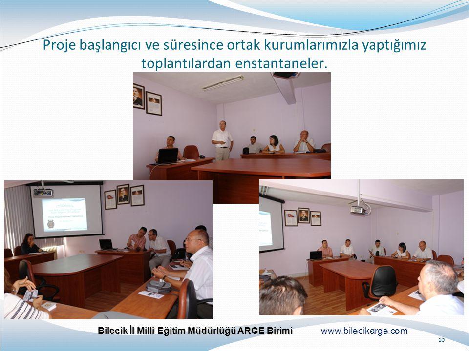 Bilecik İl Milli Eğitim Müdürlüğü ARGE Birimi Bilecik İl Milli Eğitim Müdürlüğü ARGE Birimi www.bilecikarge.com 10 Proje başlangıcı ve süresince ortak