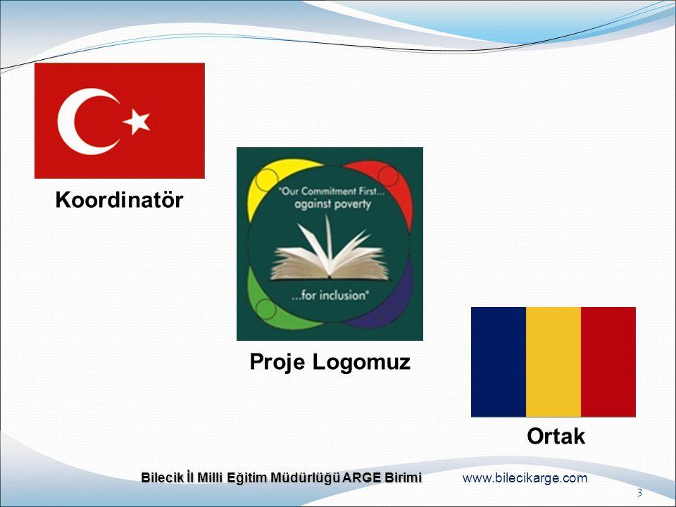 Bilecik İl Milli Eğitim Müdürlüğü ARGE Birimi Bilecik İl Milli Eğitim Müdürlüğü ARGE Birimi www.bilecikarge.com 3 Koordinatör Ortak Proje Logomuz