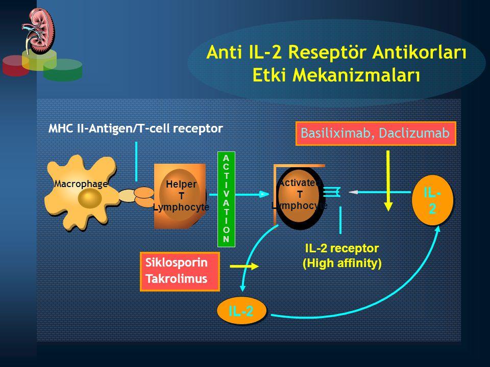 Macrophage ACTIVATIONACTIVATION IL- 2 MHC II-Antigen/T-cell receptor Helper T Lymphocyte IL-2 receptor (High affinity) IL-2 Activated T Lymphocyte Sik