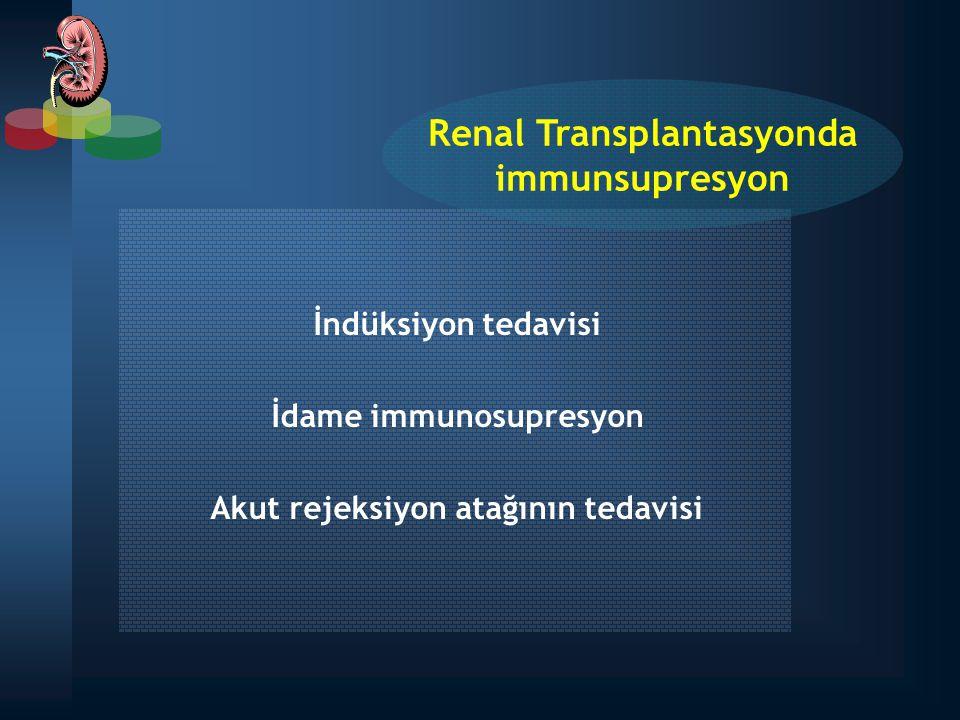 AZA + PRD (konvansiyonel tedavi) Csa + PRD Tacrolimus + PRD MMF + PRD RAPA + PRD Kortizonsuz rejimler CsA + AZA Csa + MMF CsA + RAPA Tacrolimus + AZA Tacrolimus + MMF Tacrolimus + AZA RAPA + MMF İKİLİ TEDAVİ REJİMLERİ