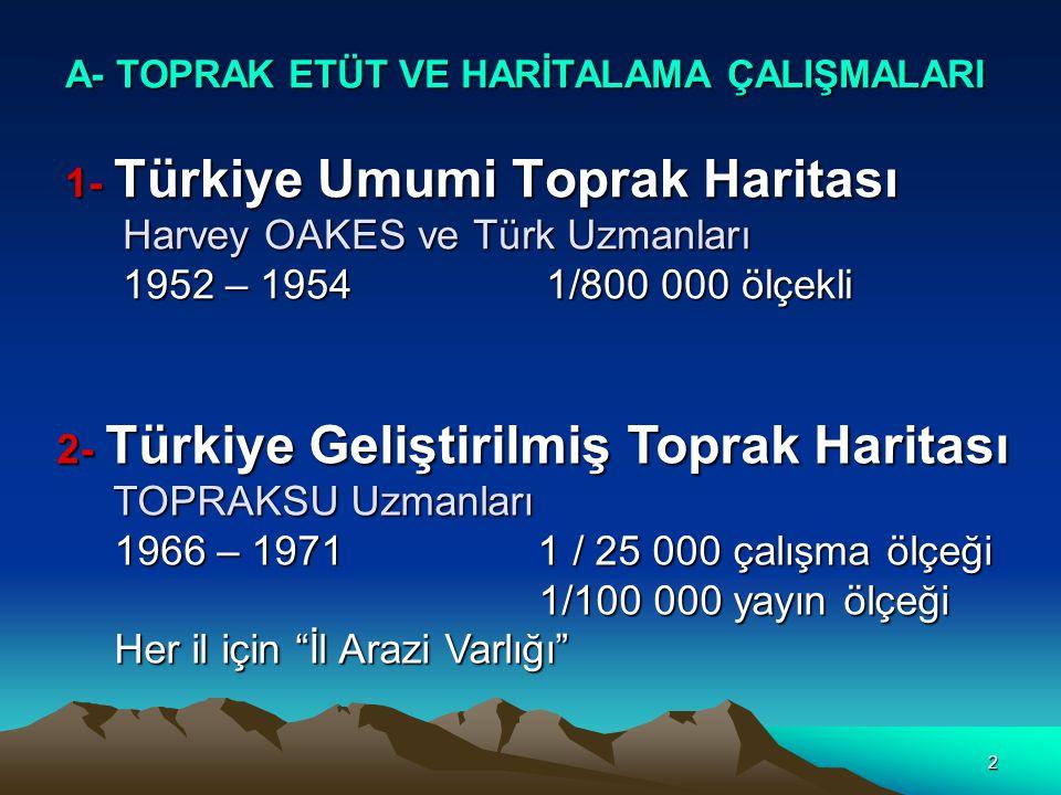 3 4 - Türkiye Erozyon Haritası TOPRAKSU (Atatürk'ün 100.