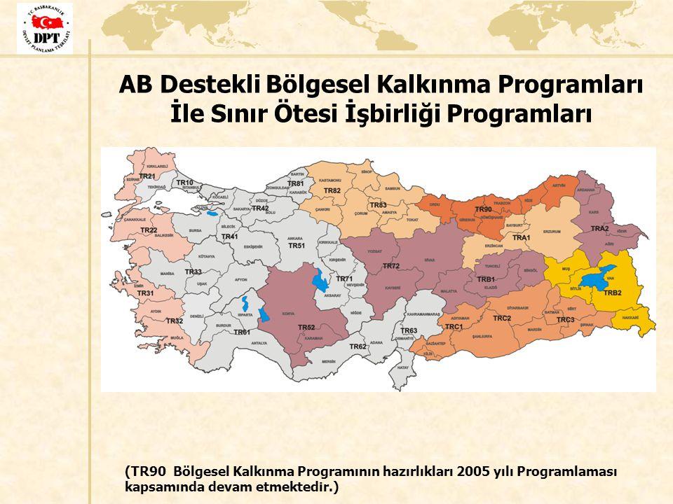 AB Destekli Bölgesel Kalkınma Programları İle Sınır Ötesi İşbirliği Programları (TR90 Bölgesel Kalkınma Programının hazırlıkları 2005 yılı Programlama