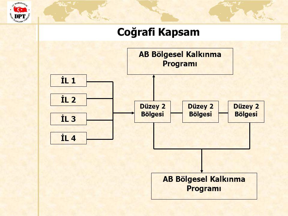 Coğrafi Kapsam İL 1 İL 2 İL 3 İL 4 Düzey 2 Bölgesi AB Bölgesel Kalkınma Programı