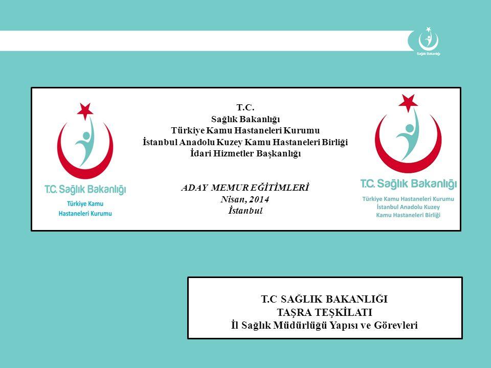 T.C. Sağlık Bakanlığı Türkiye Kamu Hastaneleri Kurumu İstanbul Anadolu Kuzey Kamu Hastaneleri Birliği İdari Hizmetler Başkanlığı ADAY MEMUR EĞİTİMLERİ