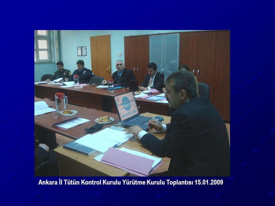 Ankara İl Tütün Kontrol Kurulu Yürütme Kurulu Toplantısı 15.01.2009