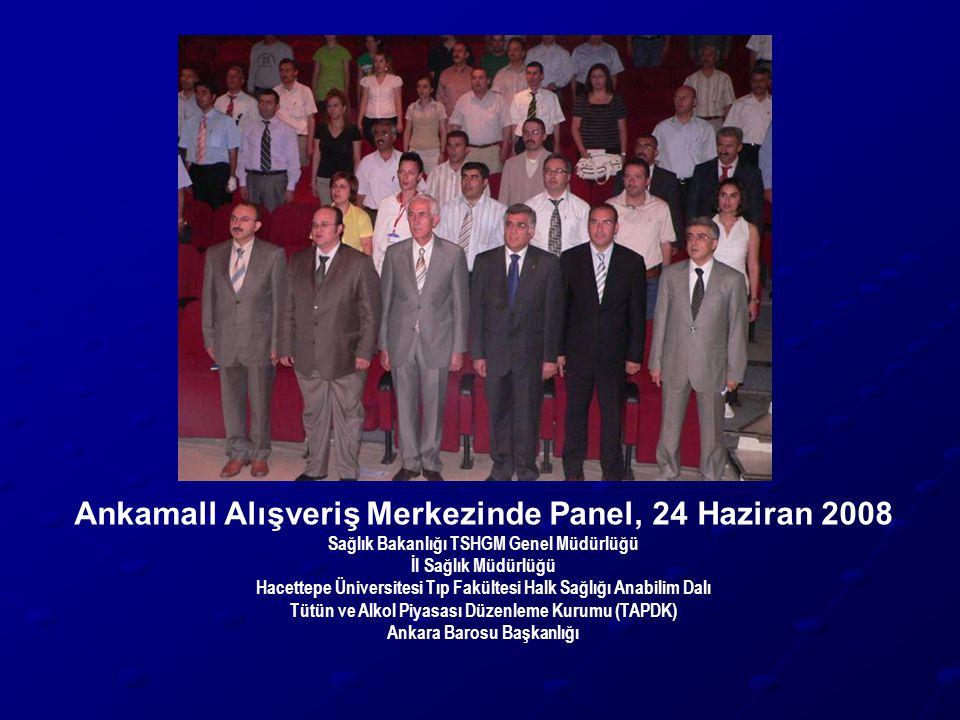 Ankamall Alışveriş Merkezinde Panel, 24 Haziran 2008 Sağlık Bakanlığı TSHGM Genel Müdürlüğü İl Sağlık Müdürlüğü Hacettepe Üniversitesi Tıp Fakültesi H