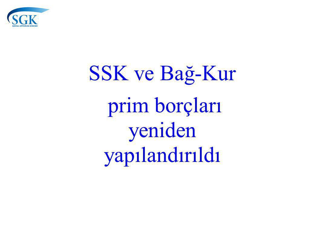 SSK ve Bağ-Kur prim borçları yeniden yapılandırıldı