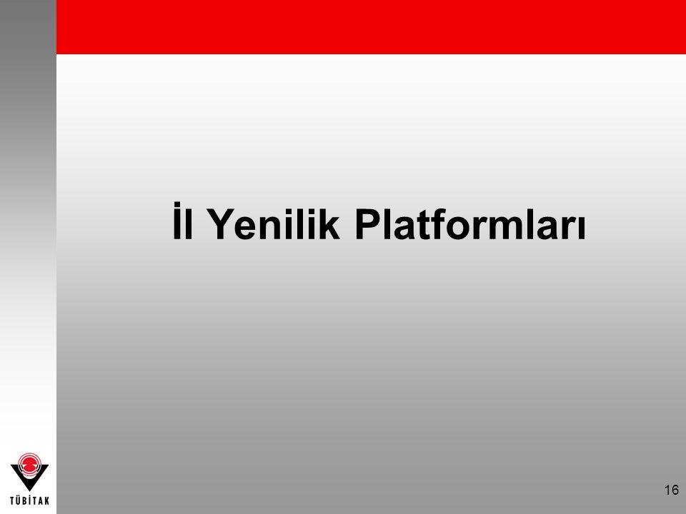 16 İl Yenilik Platformları